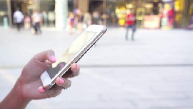 smartphone urban scene video