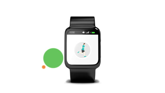 Smartwatch concept with icons video