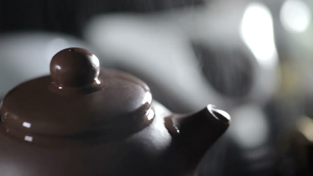 Smell Of Freshly Brewed Ceylon Tea Comes From A Teapot video