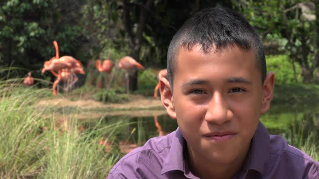 Smiling Colombian Teen Boy video