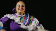 Smiling dancing woman video