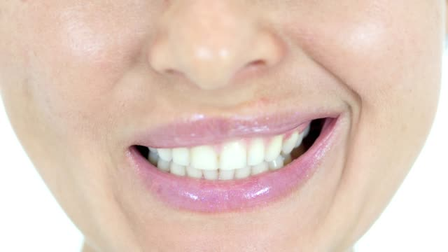 Smiling Lips and Teeth, Close Up video