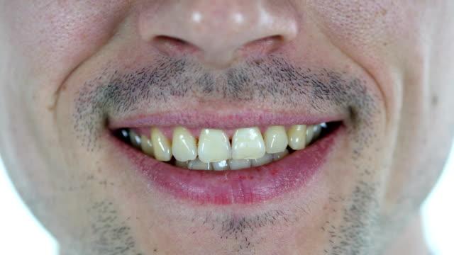 Smiling Lips of Man video