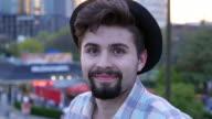 Smiling man video