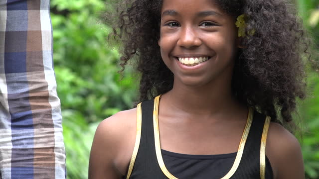 Smiling Teen African Girl video