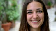smiling teenager portrait video