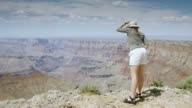 Smiling Woman at Grand Canyon Rim video