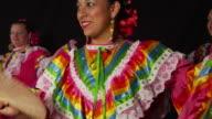 Smiling woman dancing video