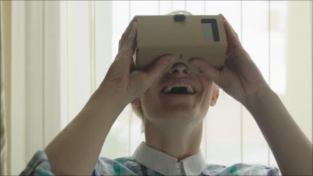 Smiling Woman Exploring Virtual Reality video