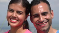 Smiling Young Hispanic Couple video