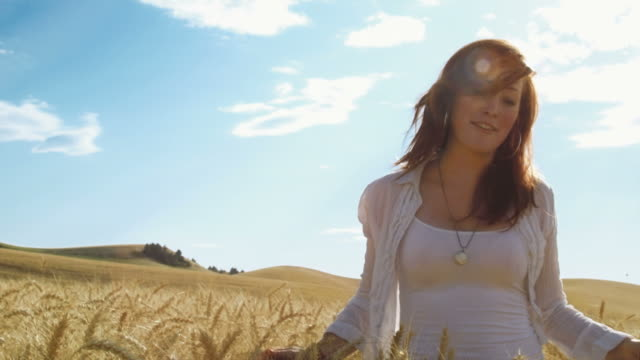 Smiling Young Woman in Field video