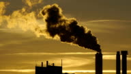 smog pollution smoke. industry background video