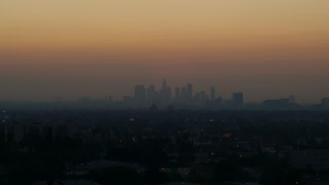 Smoggy dawn LA HD timelapse video