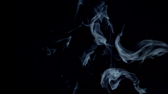 Smoke on the black background video