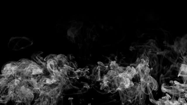 HD smoke rising over black video