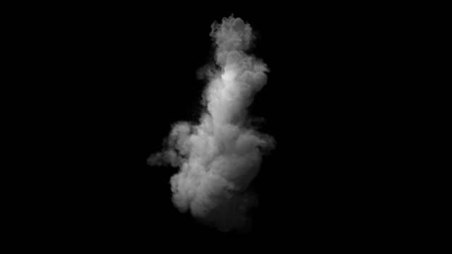smoke simulation of an avalanche video