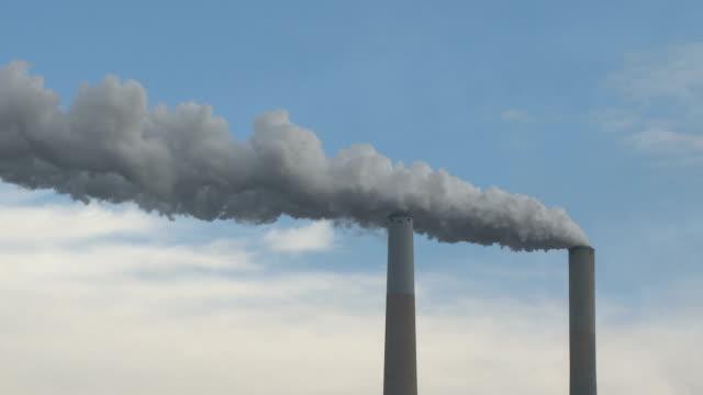 Smoke Stacks Coal power generation emissions video