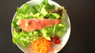 smoked salmon salad video