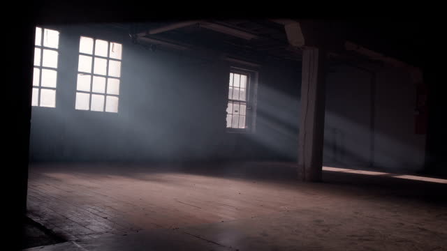 Smokey Sunlit Abandoned Warehouse video