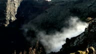 Smoking crater of the volcano video