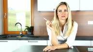 Smoking in the kitchen video