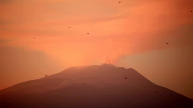 Smoking Mt. Etna video