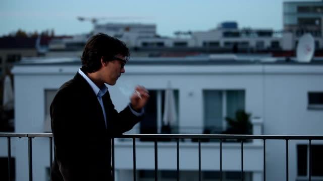 Smoking on Balcony video