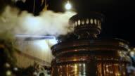 Smoking samovar at night video