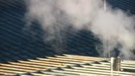 Smoking winter chimney video