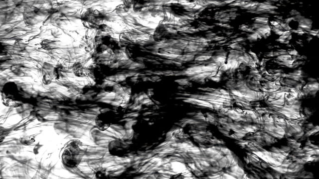 Smoky ink in water video