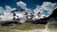 Smooth Panning view of Matterhorn Glacier video
