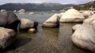 Smooth Rocks Clear Water Lake Tahoe Sand Harbor video