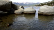 Smooth Rocks in Cold Clear Water in Lake Tahoe Sand Harbor video