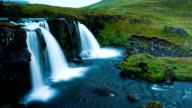 Smooth Triple Waterfall Time Lapse video