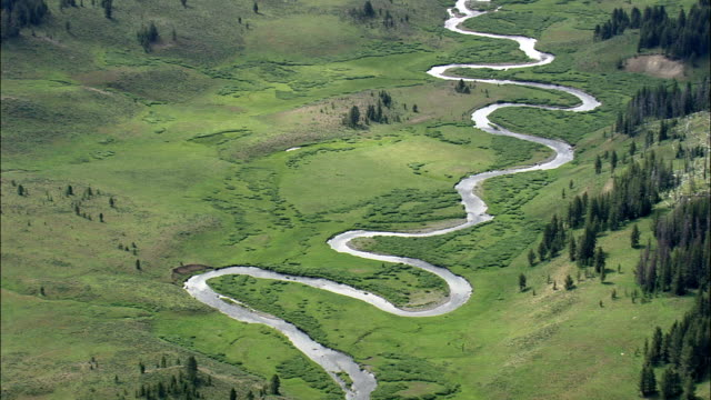 Snake River  - Aerial View - Wyoming,  Teton County,  helicopter filming,  aerial video,  cineflex,  establishing shot,  United States video