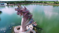 Snakes Statue Dragon 360 Aerial View video