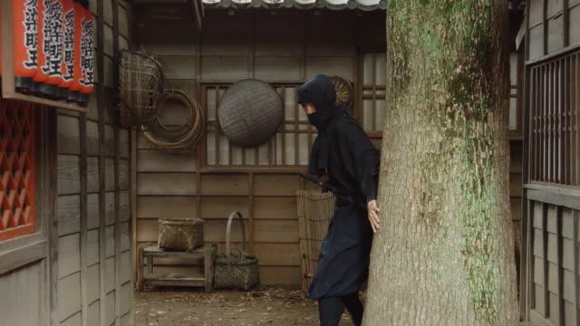 Sneaky Ninja Running Through Historic Village video