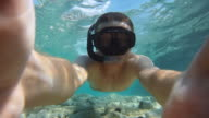 HD SLOW MOTION: Snorkeling In Shallow Water video