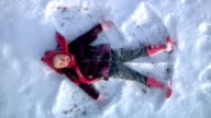 Snow angel - 1080p video