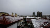 Snow At Ankara in winter with TimeLapse video