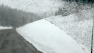 Snow Blizzard driving forwards video