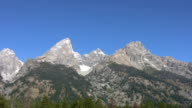 Snow Capped Mountain Peaks video
