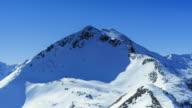 Snow covered mountain peak; Time Lapse video