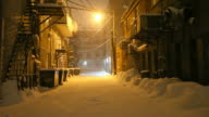 Snow Covered Urban Alleyway video