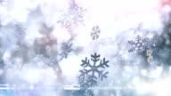 Snow crystals falling (bright) - Loop video