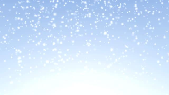Snow falling animation video