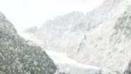 Snow falling in mountains. Loopable Christmas and Winter background video