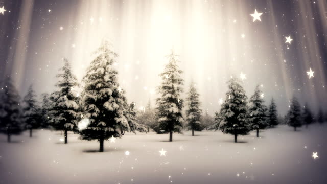 Snow Falling on Christmas video