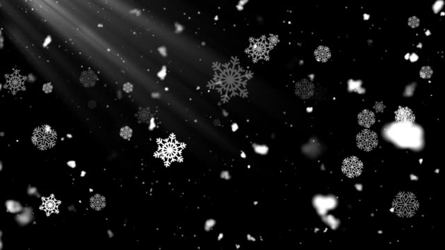 Snow Flakes Rays 4 video