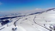 4K Snow mountain aerial - Winter Panorama video